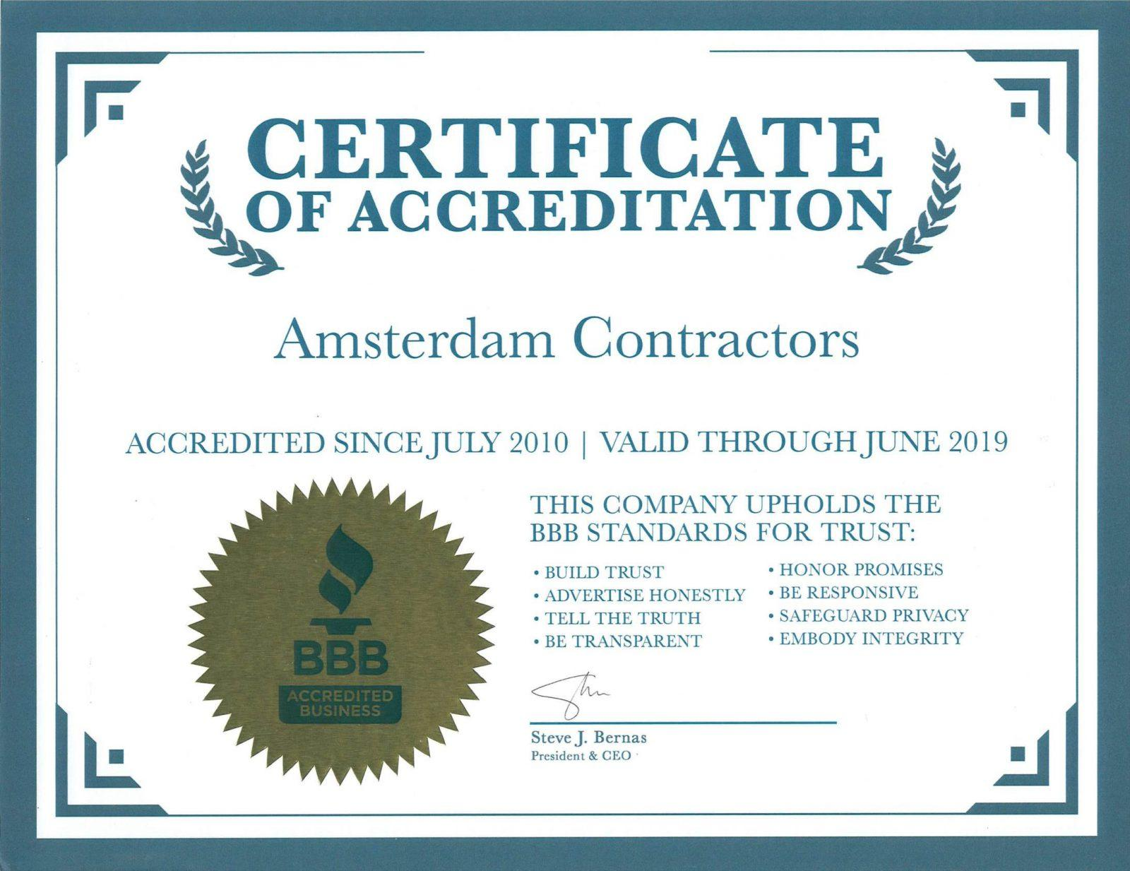 BBB-Accreditation-Certificate-Amsterdam-Contractors