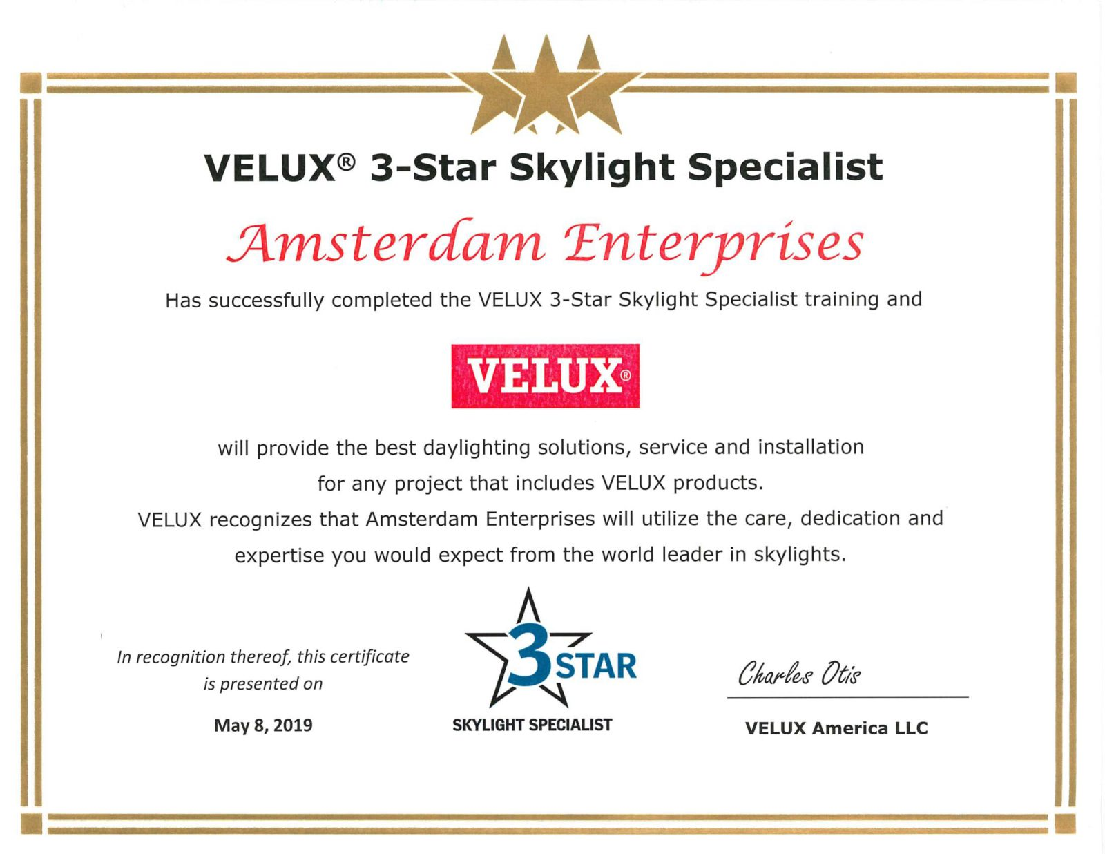 Amsterdam-Enterprises-Certificate